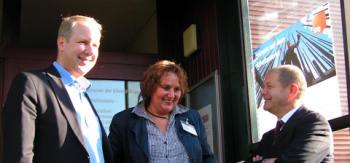 Stefan Schostok, Kerstin Tack und Olaf Scholz am Rande der Veranstaltung