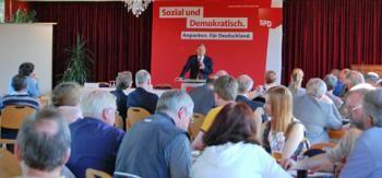 Olaf Scholz bei seinem Referat
