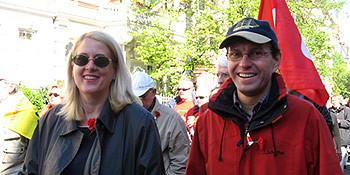 Regionskandidatin Cornelia Busch und Ratsherr Ralf Borchers.